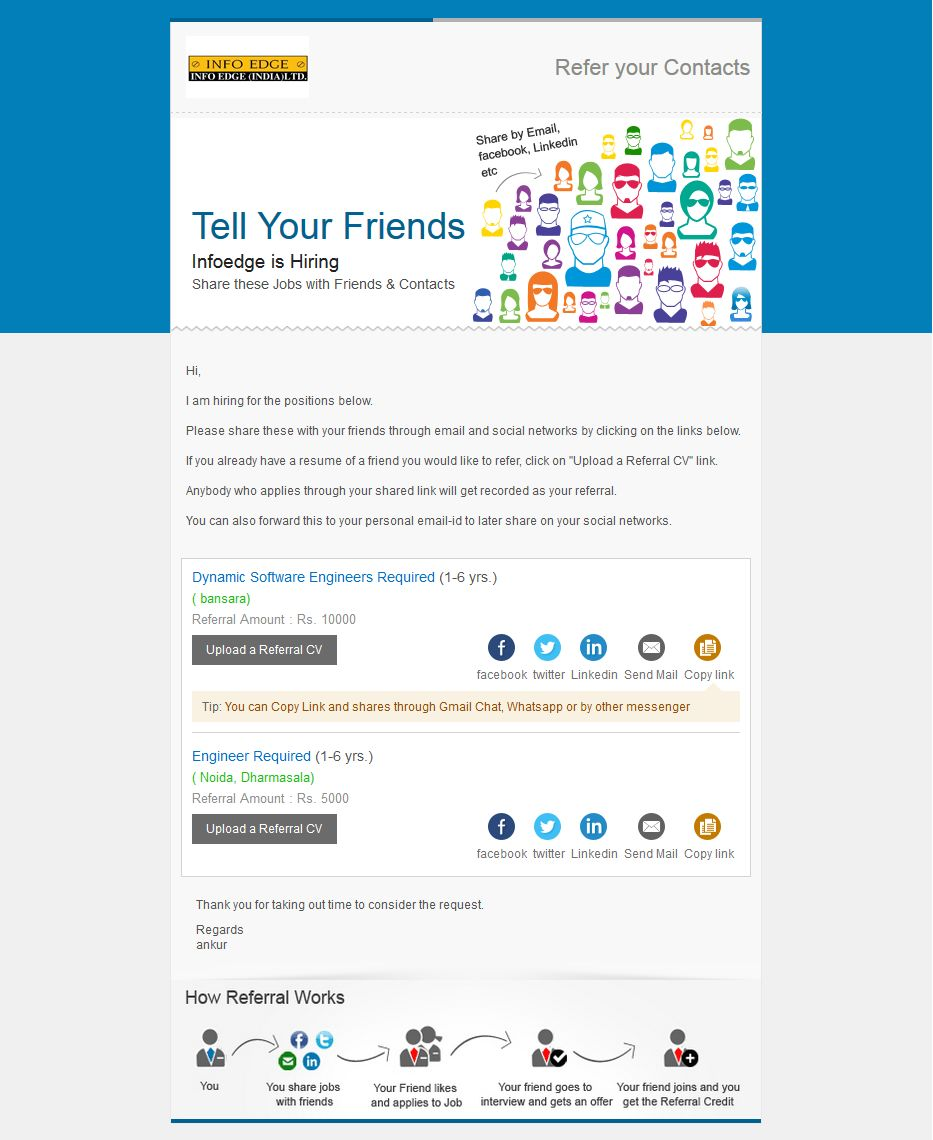 Preview our best used referralijp email templates recruiter zone themefaces pronofoot35fo Images