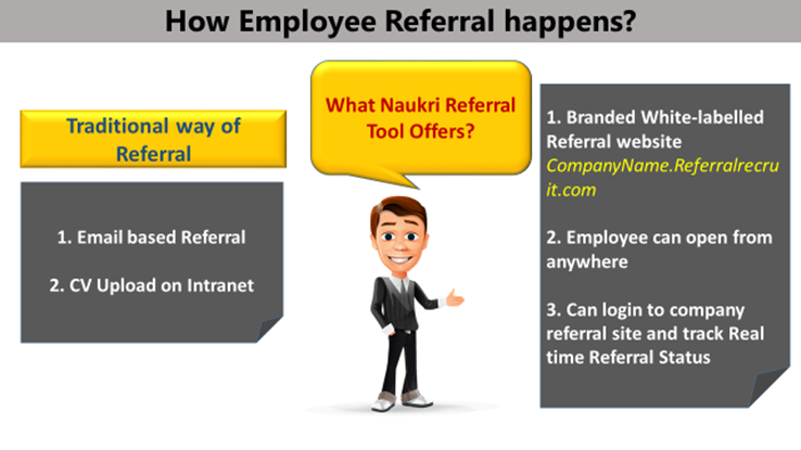 Comparing referral process in current companies with Naukri Referral
