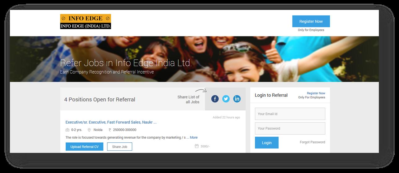 sample referral website